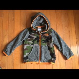 North face Camo Fleece Coat